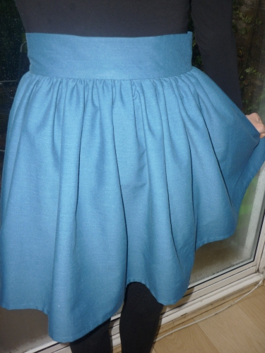 Love at First Stitch Clemence Skirt (aka an upcycled tablecloth!) @AfterDarkSewing